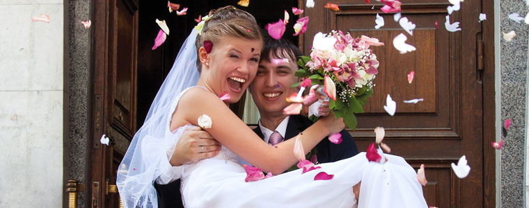 Create your private wedding photo space to share privately with your loved ones