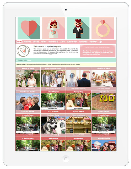 Make your own secure wedding blog: Click here
