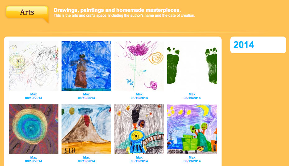 Manage the gallery of your children's masterpieces