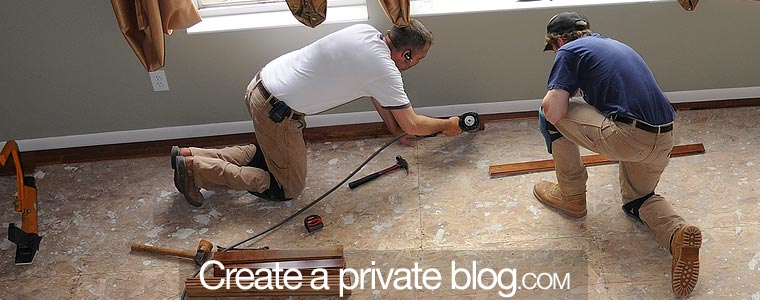 Your family house blog with private access